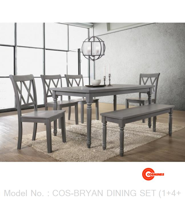 COS-BRYAN DINING SET (1+4+1)